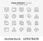 thin line icons set of hosting... | Shutterstock .eps vector #639678658