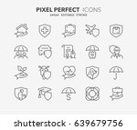thin line icons set of... | Shutterstock .eps vector #639679756