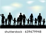 silhouette family in nature. | Shutterstock .eps vector #639679948