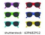set of sunglasses  vector... | Shutterstock .eps vector #639682912