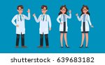 set of doctor character design. | Shutterstock .eps vector #639683182