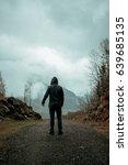 hiker standing backwards and...   Shutterstock . vector #639685135