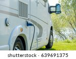 camping caravan charge electric ... | Shutterstock . vector #639691375