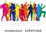 dancing people silhouettes.   Shutterstock .eps vector #639691468