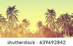tropical hawaiian beach in... | Shutterstock . vector #639692842