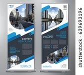 business roll up. standee... | Shutterstock .eps vector #639693196
