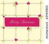 christmas greeting card | Shutterstock .eps vector #63969802