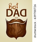 happy father's day concept.... | Shutterstock .eps vector #639700726