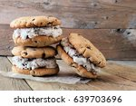 homemade chocolate chip cookie... | Shutterstock . vector #639703696