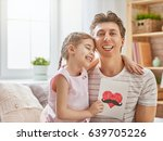 happy father's day  child... | Shutterstock . vector #639705226