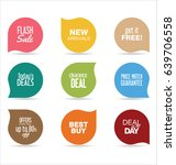 modern badges colorful... | Shutterstock .eps vector #639706558