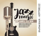 vector banner with an acoustic... | Shutterstock .eps vector #639708112