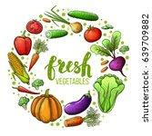 set of colorful sketch... | Shutterstock . vector #639709882