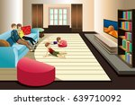 a vector illustration of family ... | Shutterstock .eps vector #639710092