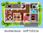 a vector illustration of house... | Shutterstock .eps vector #639710116