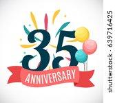 anniversary 35 years template... | Shutterstock .eps vector #639716425
