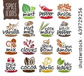 spice icon set. | Shutterstock .eps vector #639729256