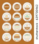 coffee menu. drinks set on... | Shutterstock .eps vector #639730462