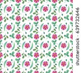 watercolor seamless pattern... | Shutterstock . vector #639732646