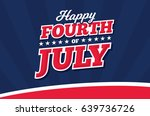 happy 4th of july | Shutterstock .eps vector #639736726