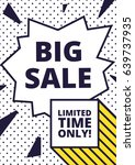 flat design sale website banner ... | Shutterstock .eps vector #639737935