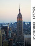 empire state building at dusk   Shutterstock . vector #6397408
