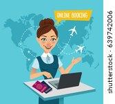 online booking banner. air... | Shutterstock .eps vector #639742006