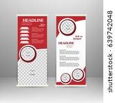 roll up banner stand design.... | Shutterstock .eps vector #639742048