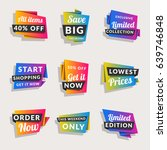 set of sale banners. shopping... | Shutterstock .eps vector #639746848