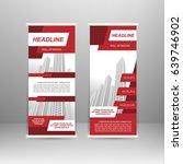 roll up banner stand design.... | Shutterstock .eps vector #639746902