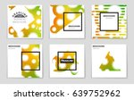 abstract vector layout... | Shutterstock .eps vector #639752962
