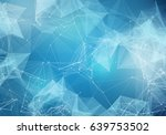 abstract polygonal light blue... | Shutterstock . vector #639753502