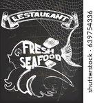 restaurant blackboard... | Shutterstock .eps vector #639754336