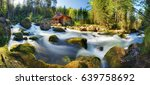 austria panorama landscape with ... | Shutterstock . vector #639758692