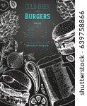 beer and burgers vector...   Shutterstock .eps vector #639758866