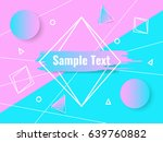 abstract geometric triangle and ... | Shutterstock .eps vector #639760882