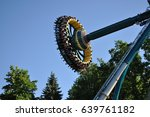 attraction in the park. | Shutterstock . vector #639761182