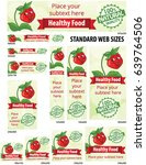 healthy food web banners set ... | Shutterstock .eps vector #639764506