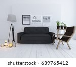 white room interior with sofa.... | Shutterstock . vector #639765412