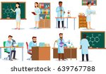 scientists making research and... | Shutterstock .eps vector #639767788