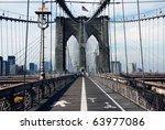 View Of The Brooklyn Bridge In...