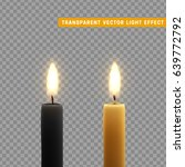 candles burn with fire... | Shutterstock .eps vector #639772792