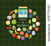 fruits and vegetables banner.... | Shutterstock .eps vector #639775162
