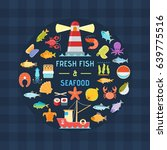 seafood banner. design template ... | Shutterstock .eps vector #639775516
