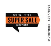 special offer sign. vector... | Shutterstock .eps vector #639775996