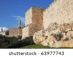 Walls Of Ancient Jerusalem....