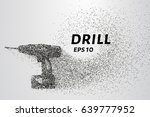 drill of the particles. the... | Shutterstock .eps vector #639777952