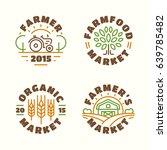 farm food market and organic... | Shutterstock .eps vector #639785482
