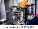 metalworking cnc milling... | Shutterstock . vector #639786706