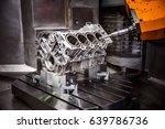 metalworking cnc milling...   Shutterstock . vector #639786736